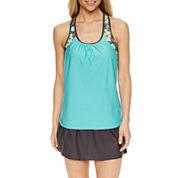 ZeroXposur® Medallion Tankini Swimsuit Top or Knit Skirt