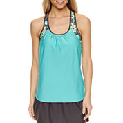 Zeroxposur Medallion Tankini Swimsuit Top