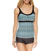 ZeroXposur® Stripe Tankini Swimsuit Top or Boyshort Swim Bottoms