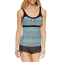 ZeroXposur® Stripe Tankini Swimsuit Top or Boyshort Swim Bottoms