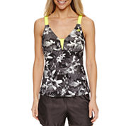 Zeroxposur Floral Tankini Swimsuit Top