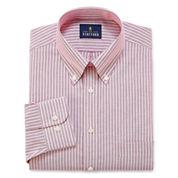 Stafford Wrinkle-Free Oxford-Big & Tall Long Sleeve Dress Shirt