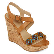 a.n.a® Max Beaded Wedge Sandals