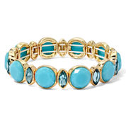 Monet® Blue Stone Gold-Tone Stretch Bracelet