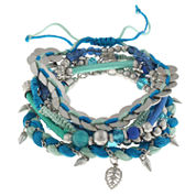 Capelli Of N.Y. Womens Beaded Bracelet