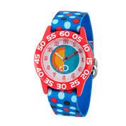 Disney Cars Boys Gray Strap Watch-Wds000022