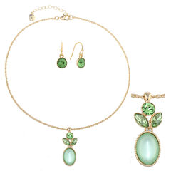 Monet Jewelry Womens 2-pc. Green Jewelry Set