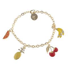 Liz Claiborne Womens Multi Color Charm Bracelet