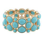 Monet Jewelry Womens Blue Stretch Bracelet