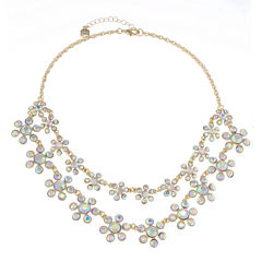 Monet Jewelry White Statement Necklace