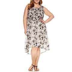Alyx Sleeveless Fit & Flare Dress-Plus