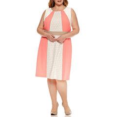 Studio 1 Sleeveless Lace Sheath Dress-Plus