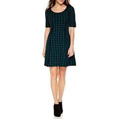 Studio 1Elbow Sleeve Sweater Dress-Petites