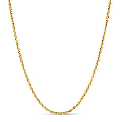 Made In Italy Gold Over Silver 16 Inch Chain Necklace