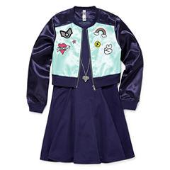 Knit Works Long Sleeve Jacket &A-Line Dress - Big Kid Girls
