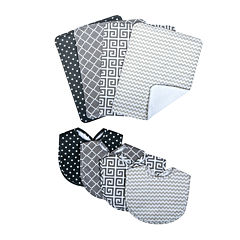 Trend Lab® Ombré Gray Bib and Burp Cloth Set