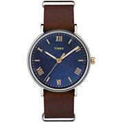 Timex Southview Mens Brown Strap Watch-Tw2r287009j