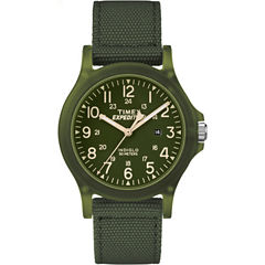 Timex Expedition Acadia Mens Green Strap Watch-Tw4b095009j