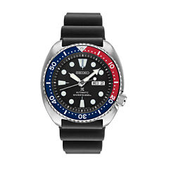 Seiko Prospex Mens Black Strap Watch-Srp779