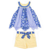 Little Lass Girls 2-pc. Sleeveless Short Set