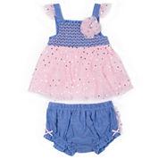 Little Lass 2-pc. Layette Set-Baby Girls