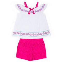 Little Lass 2-pc. Short Set Toddler Girls