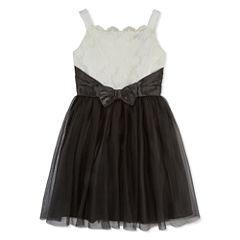 Lilt Sleeveless Fit & Flare Dress - Big Kid Girls Plus