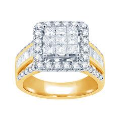 2 CT. T.W. Diamond 10K Yellow Gold Engagement Ring