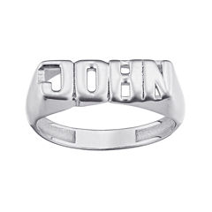 Personalized Bold Name Ring