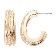 Monet® Gold-Tone Hoop Earrings