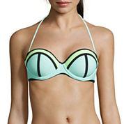 Arizona® Colorblock Pushup Bandeau Swim Top - Juniors