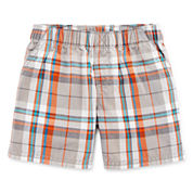Okie Dokie® Plaid Shorts - Baby Boys newborn-24m