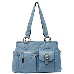 Rosetti Riveting Seams Satchel