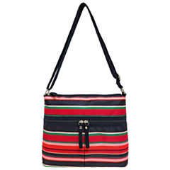 St. John's Bay Print Nylon Crossbody Bag