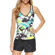 ZeroXposur® Floral Tankini Swimsuit Top or Woven Boardshort