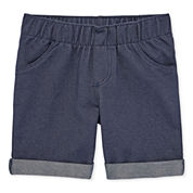 Okie Dokie Denim Bermuda Shorts - Toddler Girls