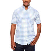 Van Heusen Short Sleeve Flex Stretch Button-Front Shirt-Big and Tall