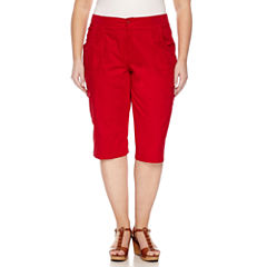 Plus Size Red Capris & Crops for Women - JCPenney
