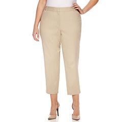 Liz Claiborne Slim Fit Ankle Pants-Plus (27