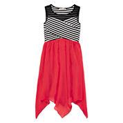 Speechless® Stripe Illusion Neck Sharkbite Dress - Girls 7-16