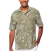 Island Shores™ Short-Sleeve Silk Jacquard Camp Shirt