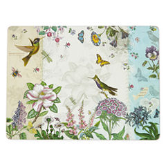 Manorcraft by Pimpernel® Botanic Hummingbird Set of 4 Cork-Backed Placemats