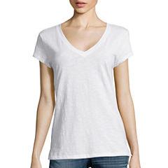 a.n.a® Short-Sleeve V-Neck Tee - Tall