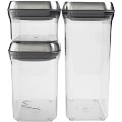 OXO Good Grips® Pop 3-pc. Stainless Steel Food Storage Canister Set