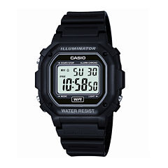 Casio® Mens Black Resin Strap Square Digital Sport Watch F108WH-1AOS