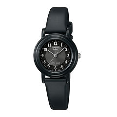 Casio® Womens Black Resin Strap Watch LQ139A-1B3OS