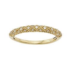 1/6 CT. T.W. Certified Diamond 14K Yellow Gold Wedding Band