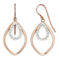 Diamond Fascination™ 18K Rose Gold Over Sterling Silver Layered Drop Earrings