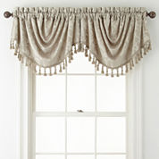 Royal Velvet® Chenille Scroll Rod-Pocket Trumpet Valance