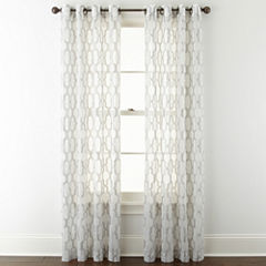 Studio™ Casey Sheer Grommet-Top Curtain Panel